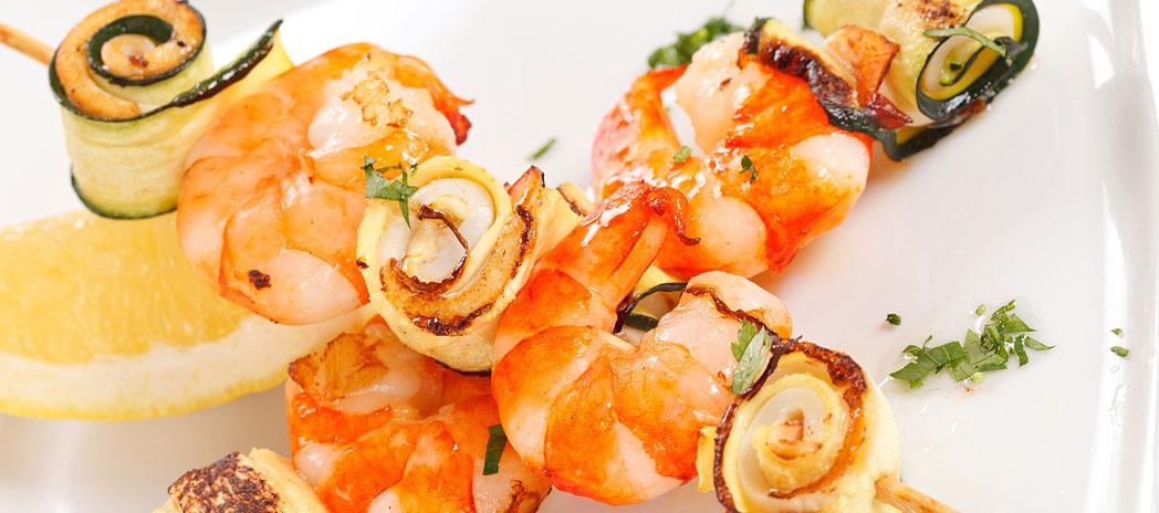 Shrimps dish at Zorbas Seaside Restaurant